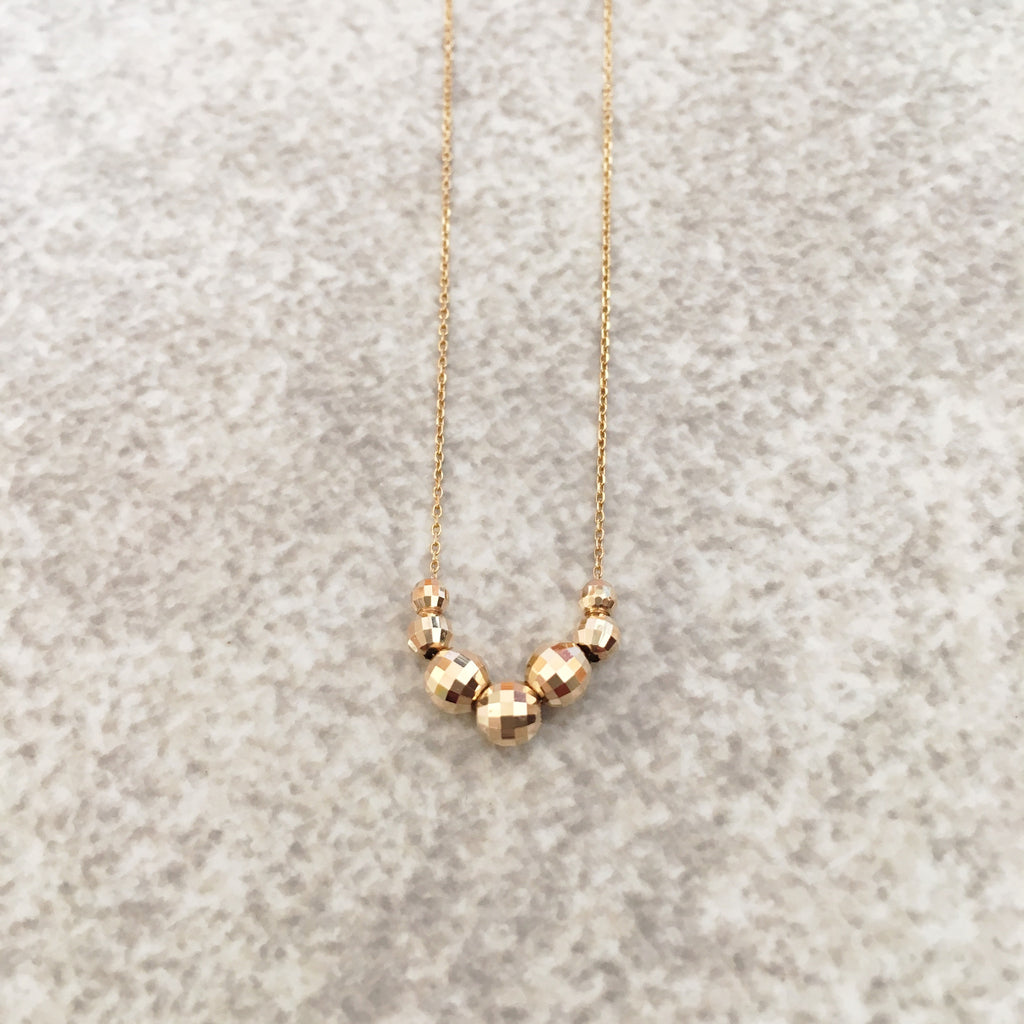 14K Gold Discoball Necklace