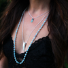 joya chalcedony spike necklace