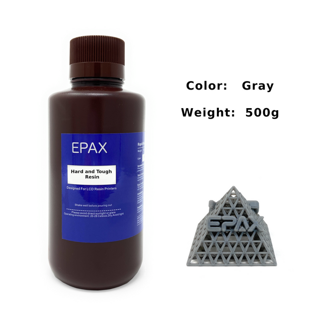 EPAX Hard and Tough Resin for LCD 3D Printers, UV 405nm 0.5kg