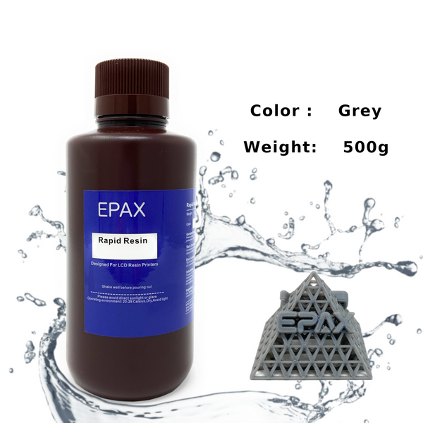 EPAX General Purpose Rapid LCD Resin, Designed for LCD 3D Printers, UV 405nm 0.5kg - Gray