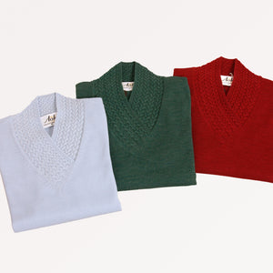 Italian Made Eloise V Neck Jumper - 100% Merino Wool