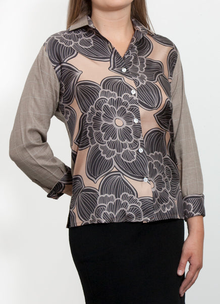 Fantasia Blouse - Made in Italy - Pure Linen with 100% Silk fronts
