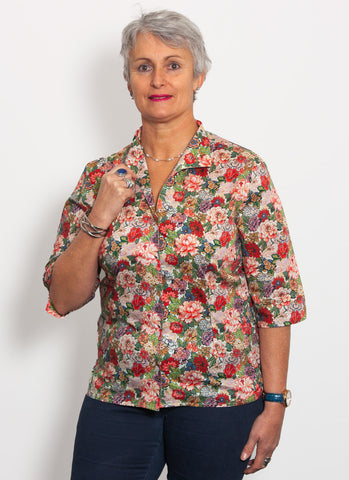 Liberty of London Blouse - Royal Peonie