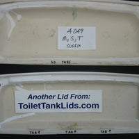 Tank Lid American Standard Cadet & Glenwall # F4049 , 4049 - WHITE - This Old Toilet