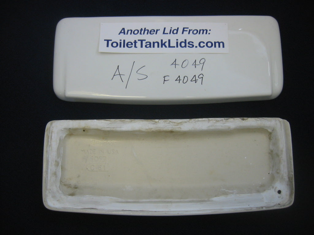 Tank lid American Standard Cadet & Glenwall # F4049, 4049 - COLORS - This Old Toilet