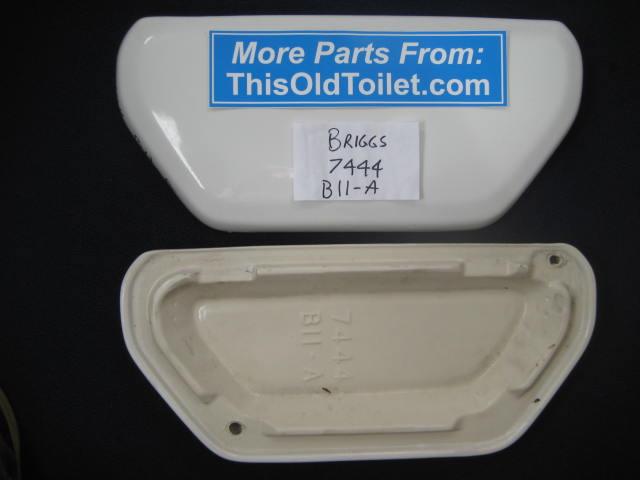 Tank lid Briggs Vacuity 7444 BII A - This Old Toilet