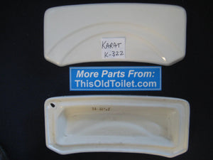 "Tank Lid Karat K-322 3410020102, White, 17-1/2"" X 7-1/4"", for one-piece model #2463"