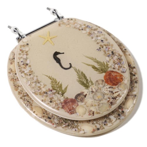 Toilet Seat Decorator Seahorse - This Old Toilet