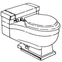 Seat for Case 1100 Elongated - This Old Toilet