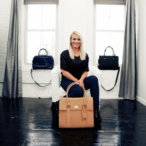 GRACESHIP Women's Laptop Bags Founder Emily Gimmel.
