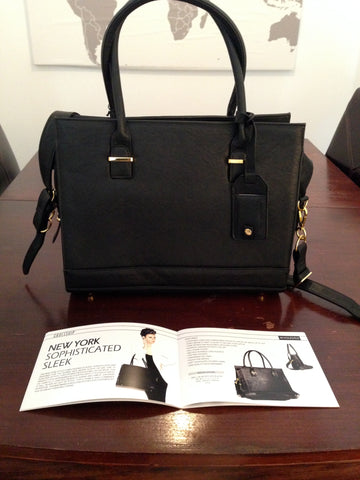 The New York page of the catalogue has a list of features and different views of our ever popular bag.