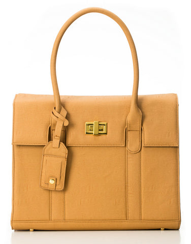 London GRACESHIP Camel Laptop Bag