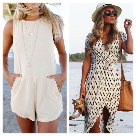 Romper Necklace Dress Bag Hat Sunglasses GRACESHIP Travel Totes