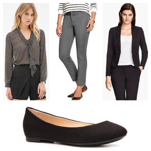 Flats | Blazer | Cropped | Pants | Blouse | GRACESHIP | Women's Laptop Bags