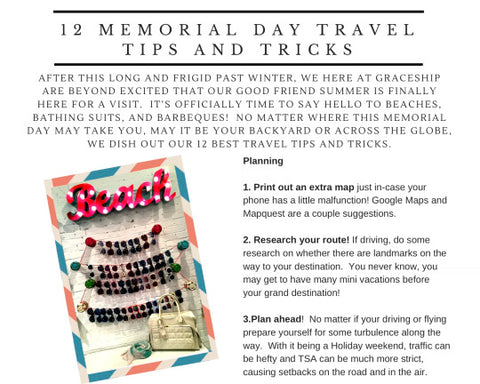 Memorial Day Getaway 12 Tips | GRACESHIP | Hong Kong Bag | Women's Laptop Bags
