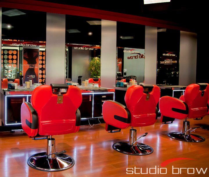 Beautiful Stallion Red Barber Chair ( ASSEMBLED)