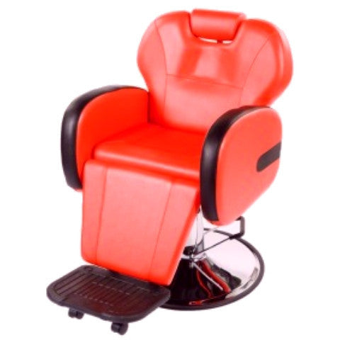 Stallion Red Barber Chair ( ASSEMBLED)