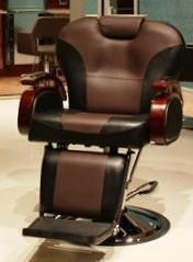 Kingston Barber Chair Brown and Black  ( FULLY ASSEMBLED)