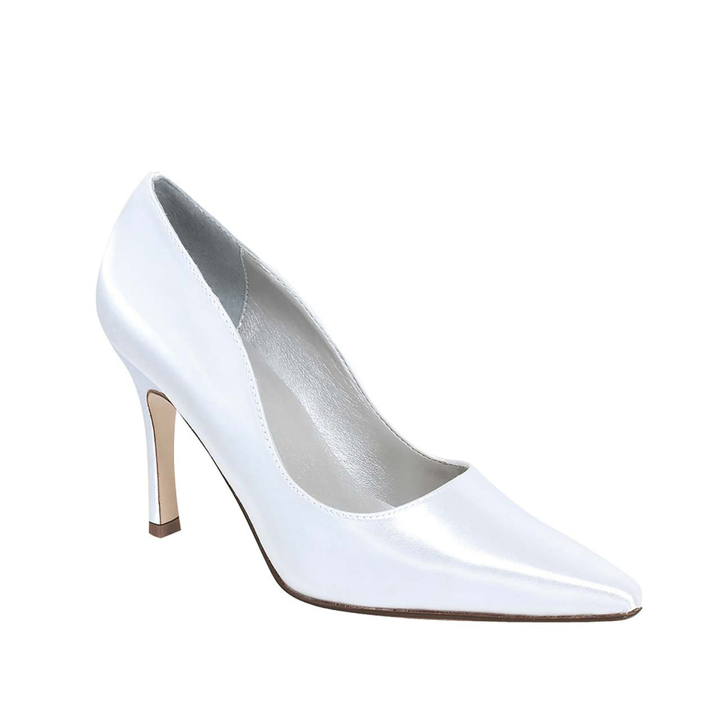 Debutante Satin Pointed Toe Heel