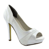 Emmy Satin/Crepe Pump