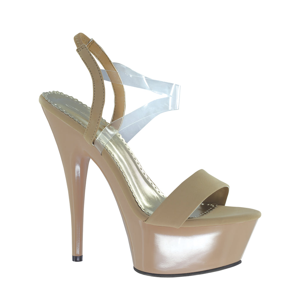 "Suntan Taupe 5""Heel by Touch Ups"