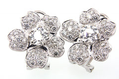 White Gold + Diamond Sakura Earrings LUXE