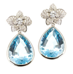 Swiss Blue Topaz Orchidea Drops