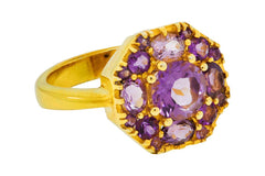 Amethyst Deco Octagon Ring