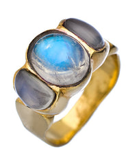 Gold Vermeil Blue Moonstone Barcelona Ring