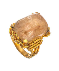 Gold Rutile Quartz Belle Epoque Ring