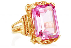 Gold Pink Topaz Belle Epoque Ring