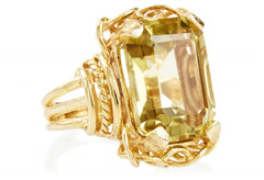 Gold Lemon Topaz Belle Epoque Ring LUXE