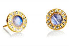 Blue Moonstone and Aquamarine Kori Studs