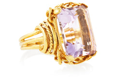Gold Amethyst Belle Epoque Ring