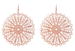 Rose Lace Circle Earrings