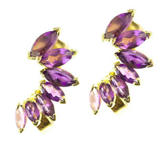 Amethyst Deco Ear Cuffs