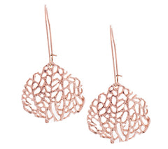 Rose Seafan Drop Earrings