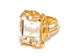 Rock Crystal Belle Epoque Ring