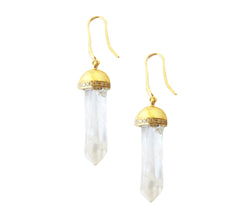 Raw Crystal Ise Drop Earrings