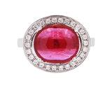 Ruby + Diamond Trim Kori Ring LUXE