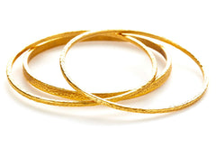 Hammered Kori Bangle Set