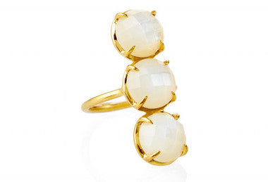 Triptych Mother of Pearl Gemma Ring