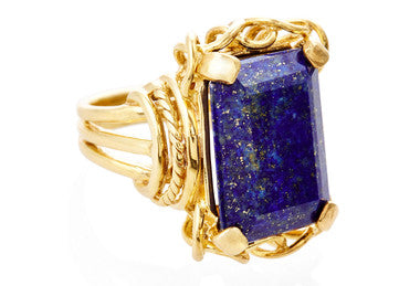 Lapis Vintage Belle Cocktail Ring