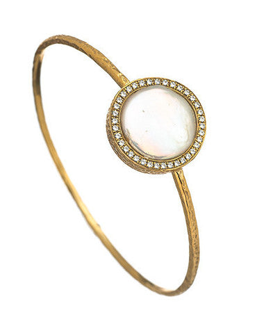 Pave Pearl Kori Bangle