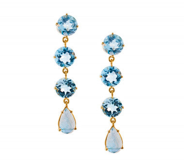 Blue Topaz Moonstone Gemma Drops