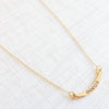 crescent delicate necklace swarovski