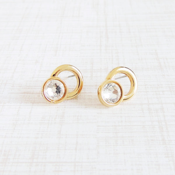 onasis stud earrings doorknocker swarovski