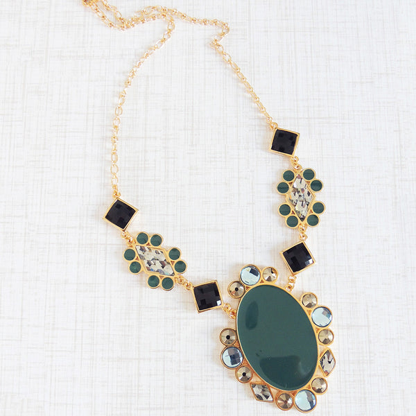 daydreamer resin swarovski statement necklace