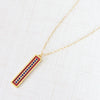 bright lights rectangle pendant necklace