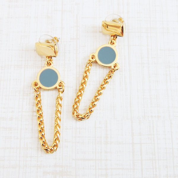 if you can dream it resin chain dangle earrings